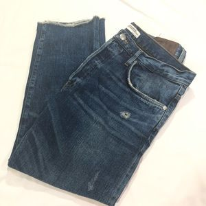 Zara Jeans - ZARA WOMAN CROPPED DISTRESSED JEANS SIZE 8